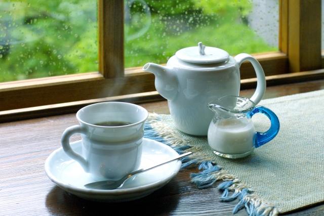雨 室内 屋内 お茶