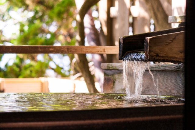 温泉 湯船 お風呂上がり